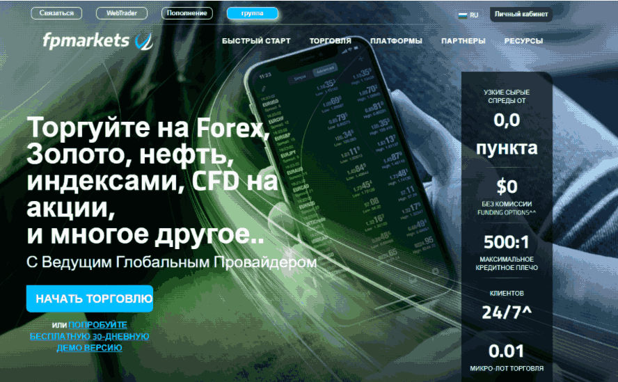 FPMarkets - сайт