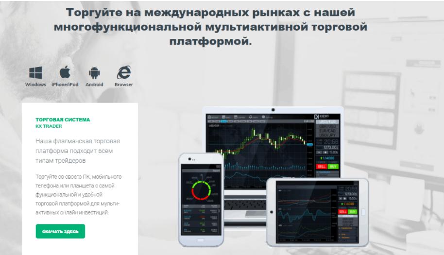 Kiexo - торговая платформа компании