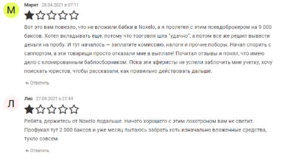 отзывов о Noxelo