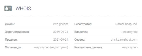 обзор официального сайта RWB Group