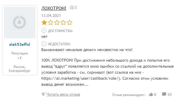отзывы об AI Marketing