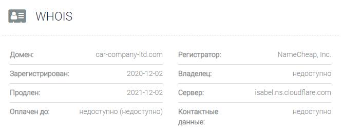 обзор официального сайта Car-Company
