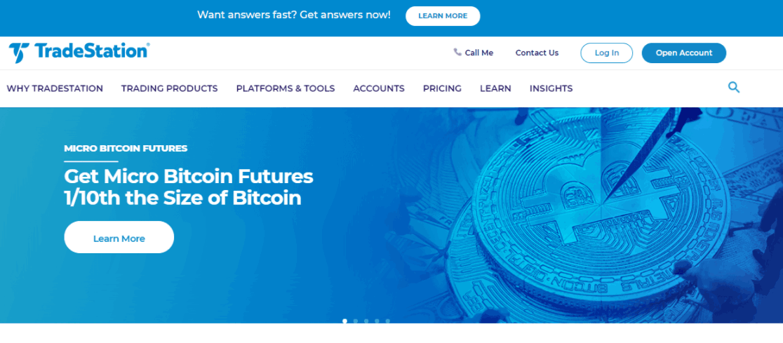 TradeStation сайт компании