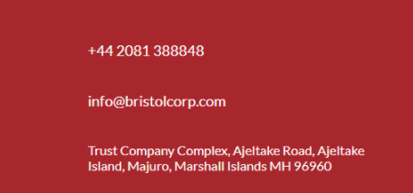 Контактные данные Bristolcorp