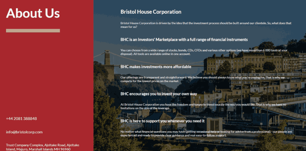 Bristolcorp - про компанию