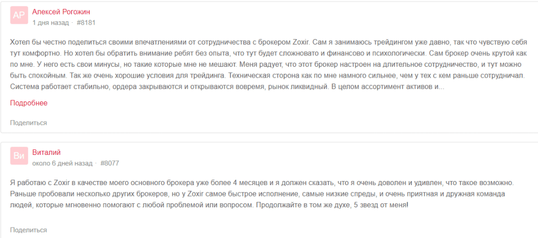 отзывов о Zoxir