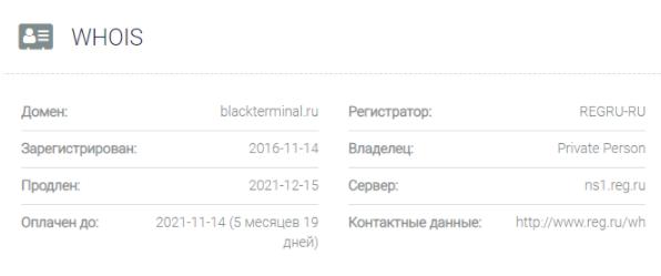 обзор официального сайта BlackTerminal