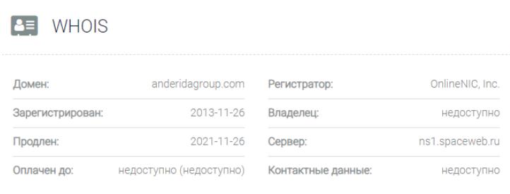 обзор официального сайта AnderidaGroup