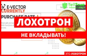 E-Vector – надежный криптокошелек или инструмент, созданный для выкачивания из населения денег