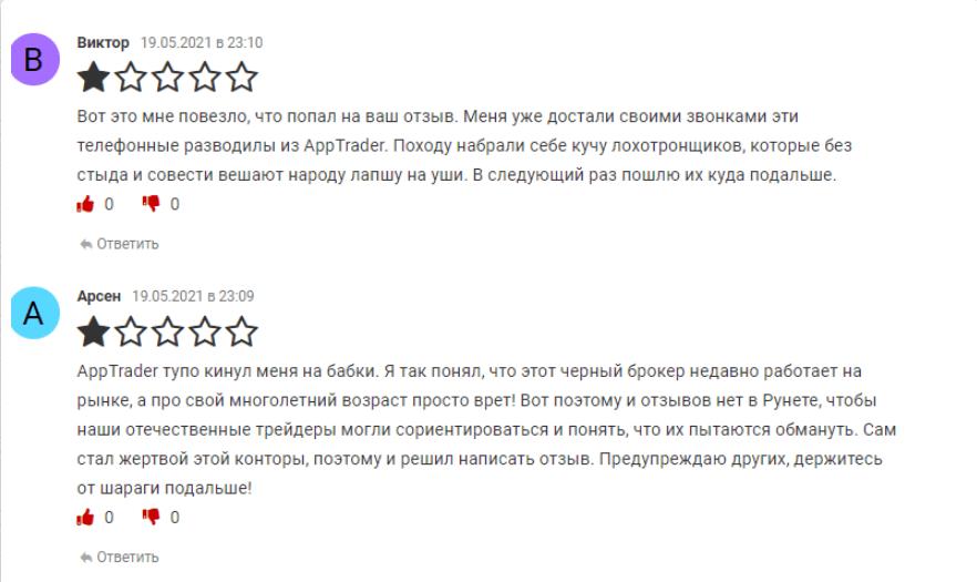 негативных отзывов об AppTrader