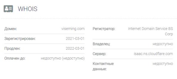 обзор официального сайта Viseming