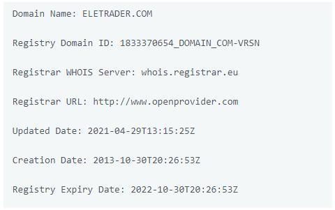 обзор официального сайта Ele Trader