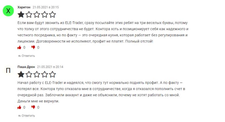 отзывы об Ele Trader