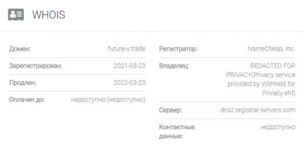 обзор официального сайта Futurex