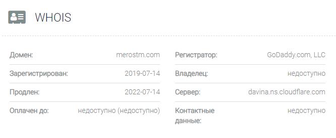обзор официального сайта MerosTM