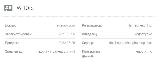 обзор официального сайта Аvisonn
