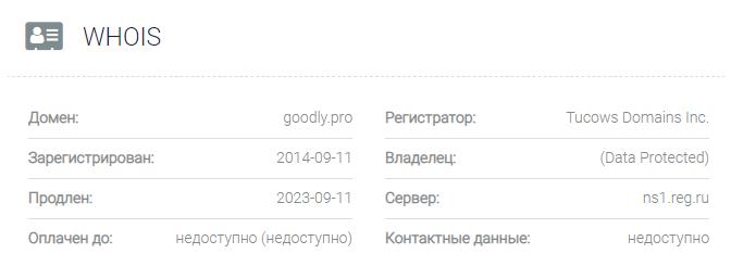 домен GoodlyPro