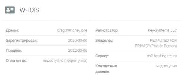 домен Dragon Money