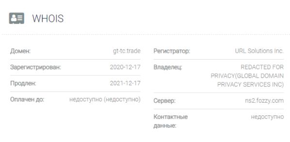 домен GTTC Trade