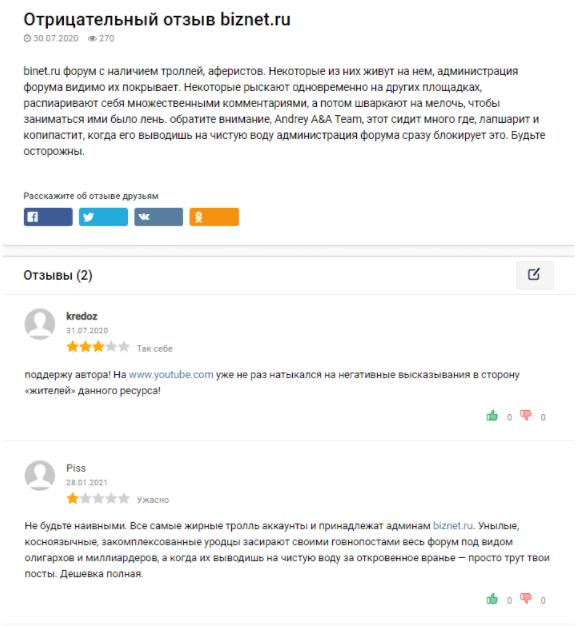отзывы о BizNet