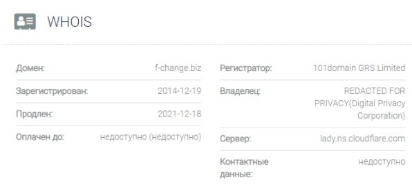 домен F-CHANGE.BIZ