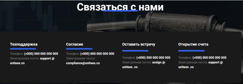 связь с Uniteex Inc