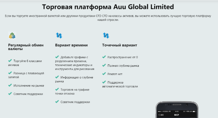 платформа Auu Global Limited