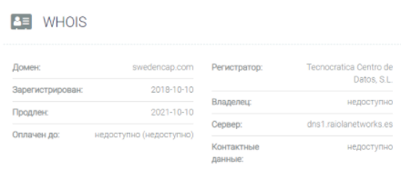 домен SwedenCap