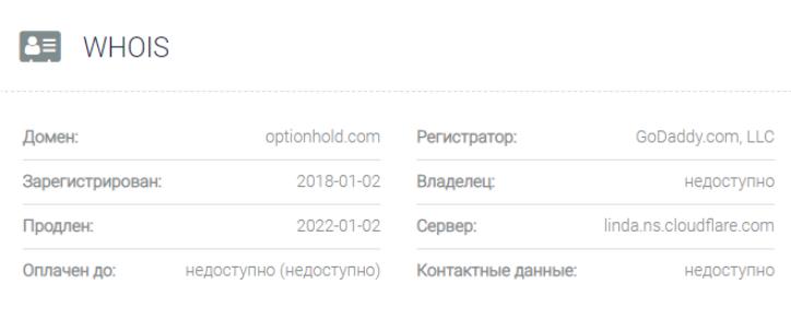 домен Option Hold