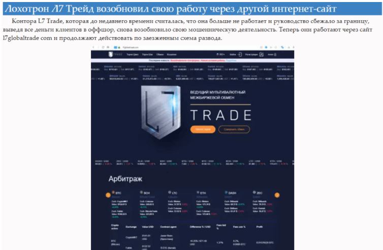 l7 trade отзывы