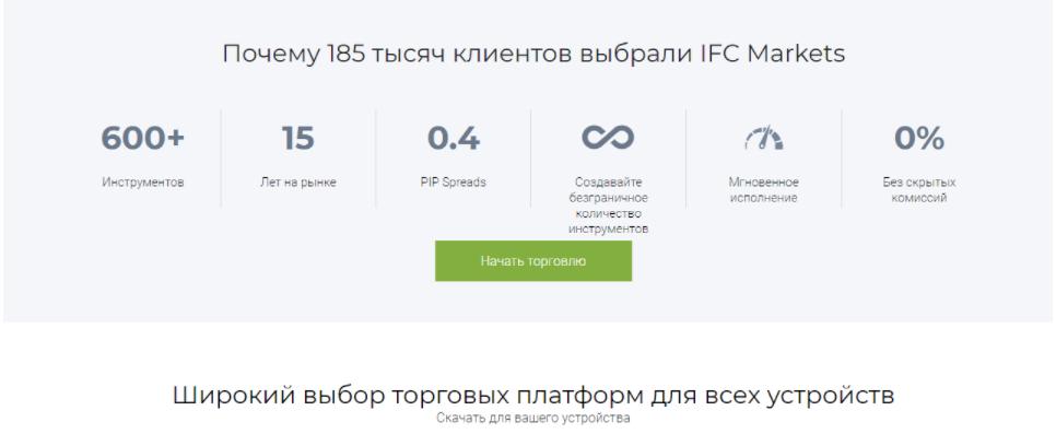 ifc markets предложения